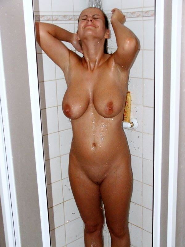 Wife naked in the shower