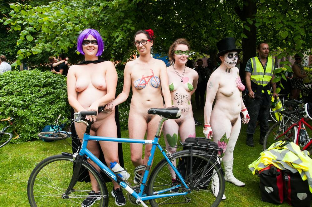 Hot naked girl on dirt bike