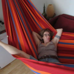 Streching Her Legs In The Hammock