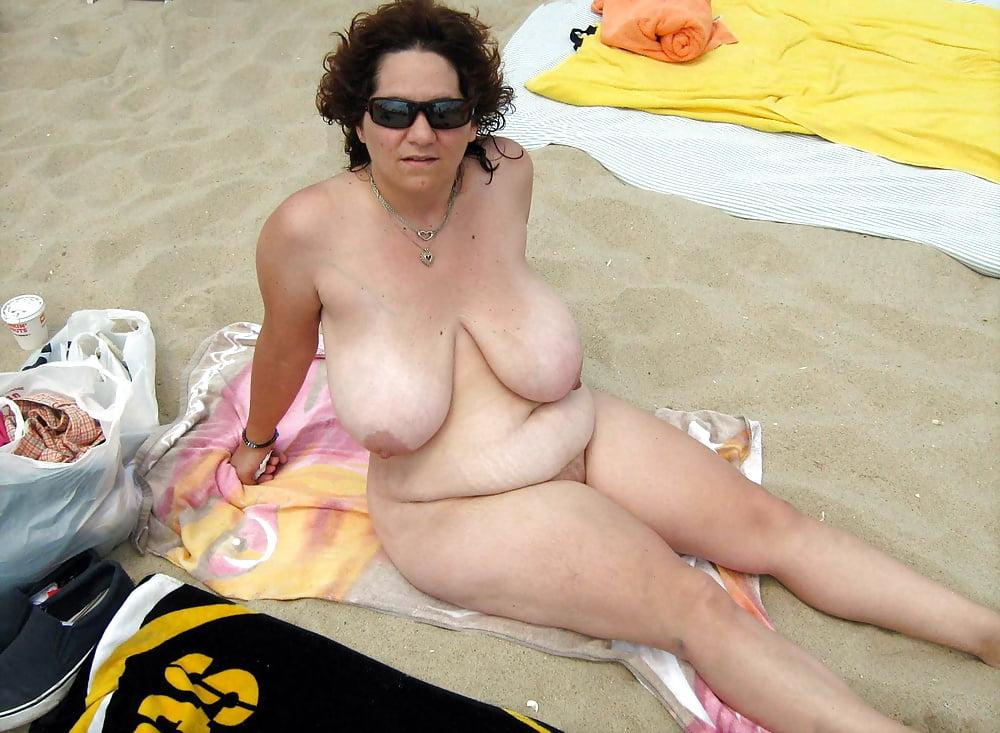 Big boobs tits nude beach