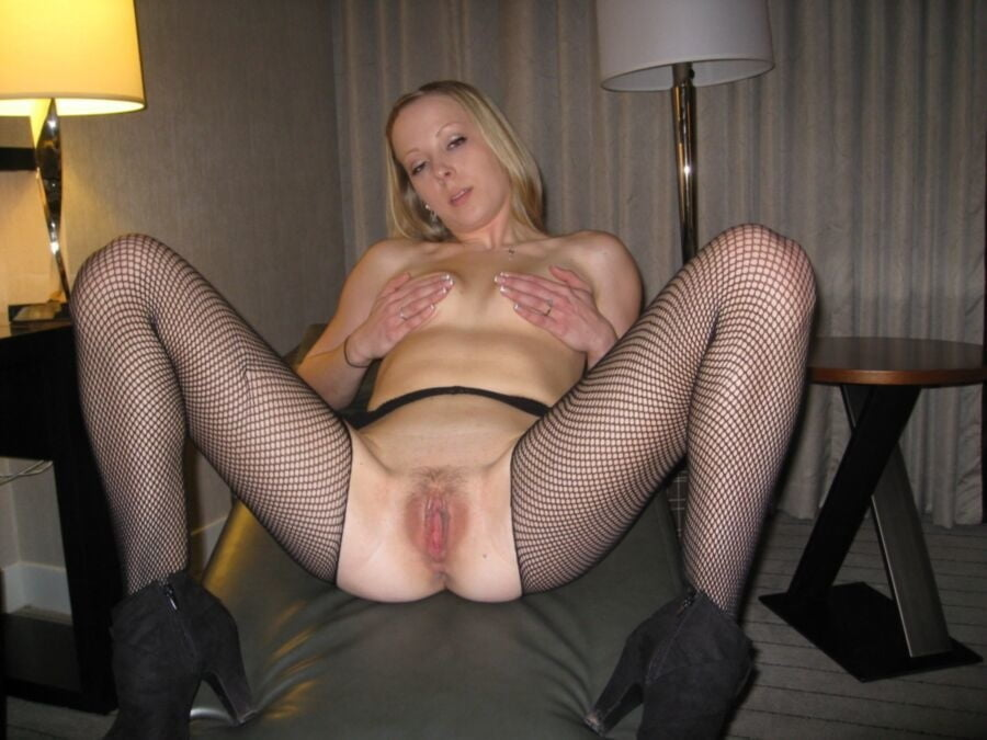 Flawless Horny Amateur Wife In Fishnet Pichunter Photos 1