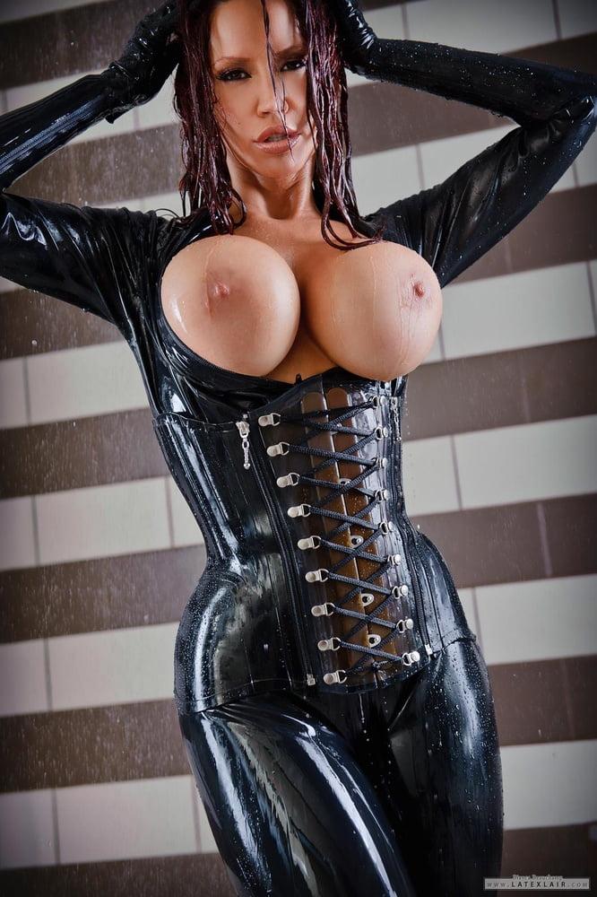 Bikini Breasts Corset Gloves Latex Eroticbeauties 1