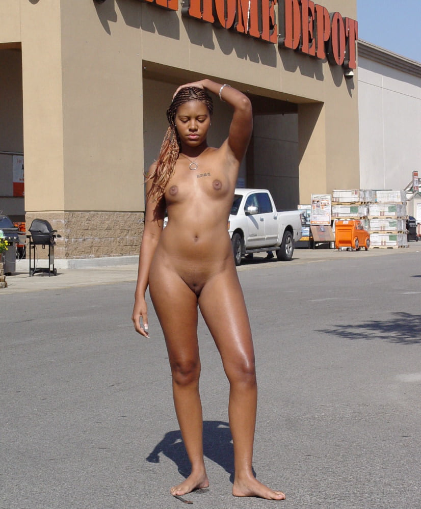 Lot black sex in the street nude