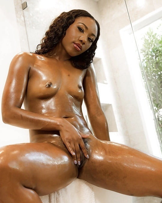 Ebony big natural boobs taking shower