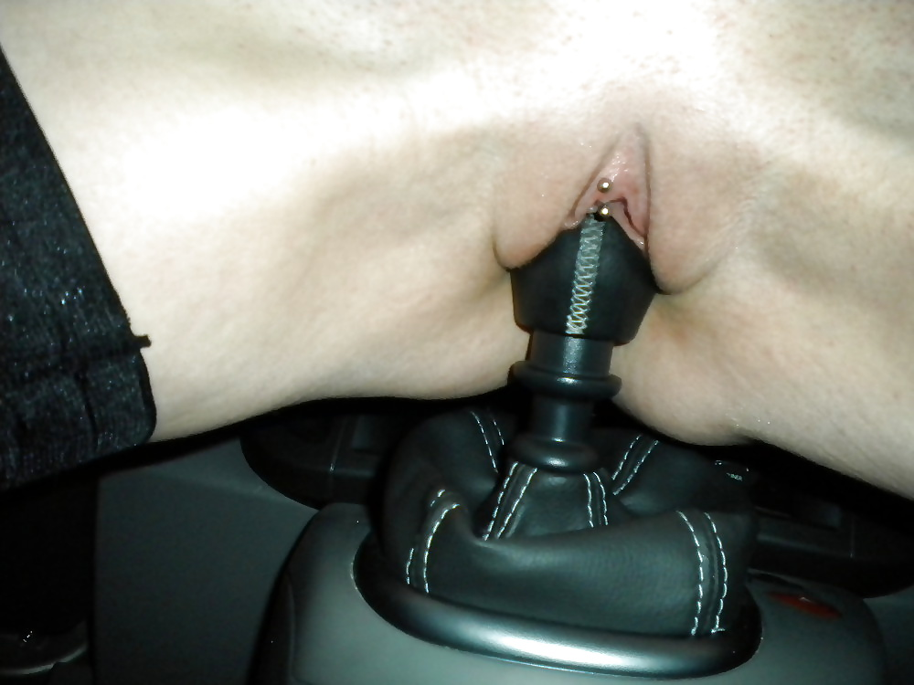Women fucking car shifter