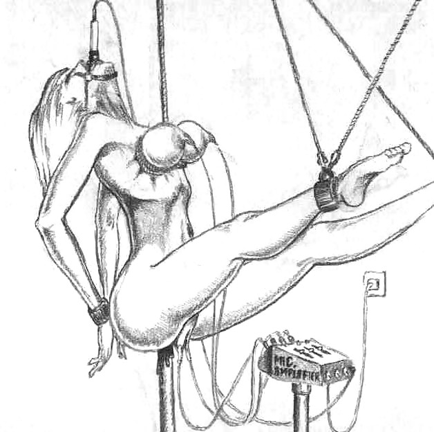 Self cock torture drawing pins