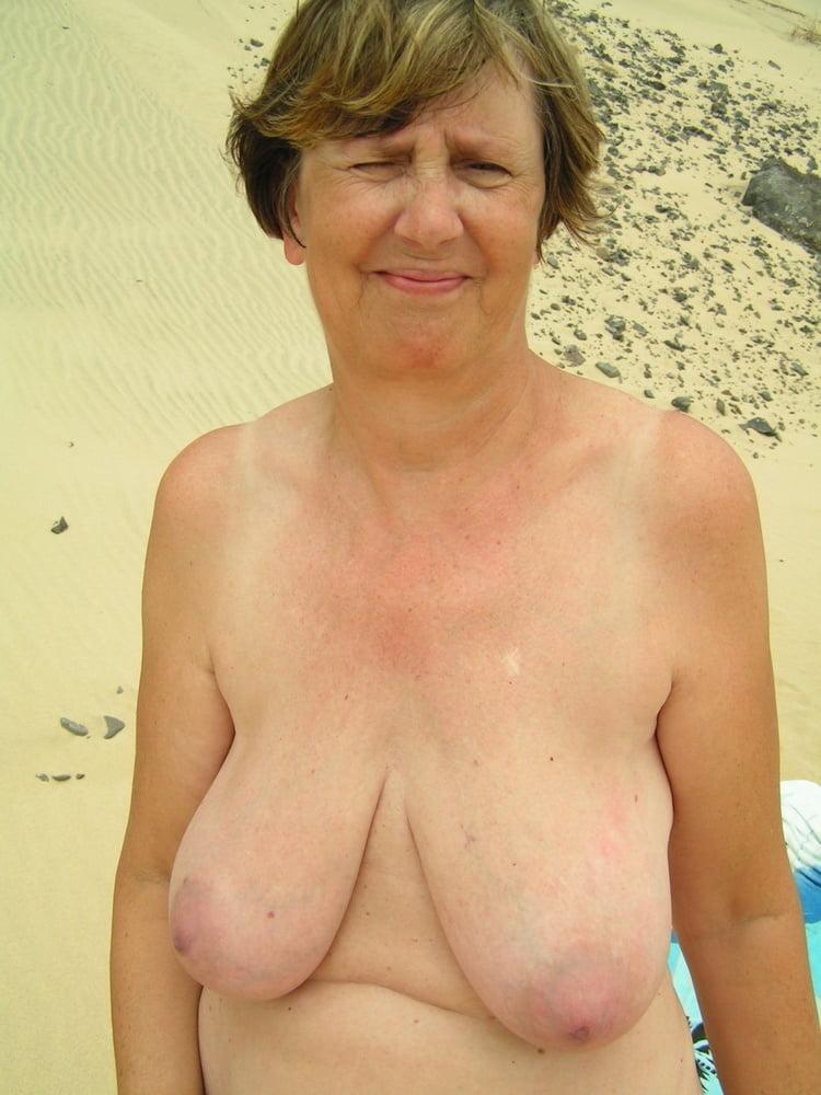 Grandma Huge Hanging Tits