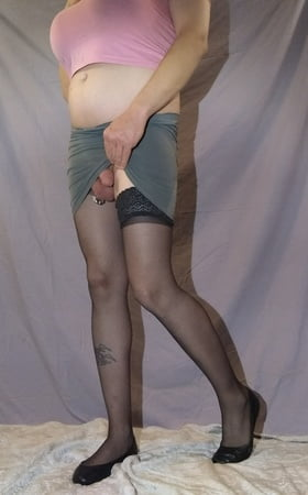 pantyhose and mini skirts Trans