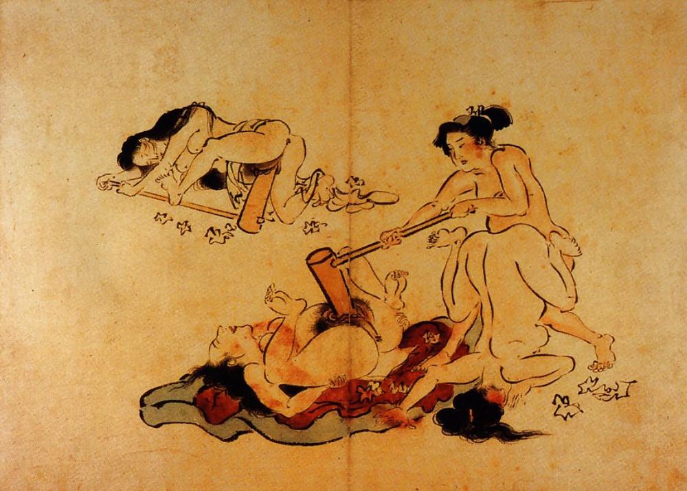 Порно японское древние времена, порно девушки слизывают с пизды кончину сперму