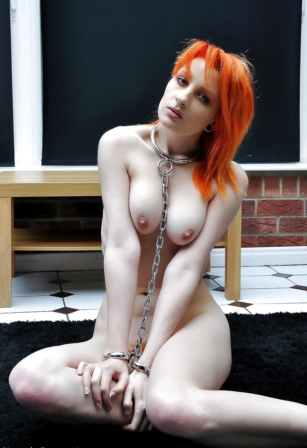 Femdom redhead slave slut berlin gets bound and dominated
