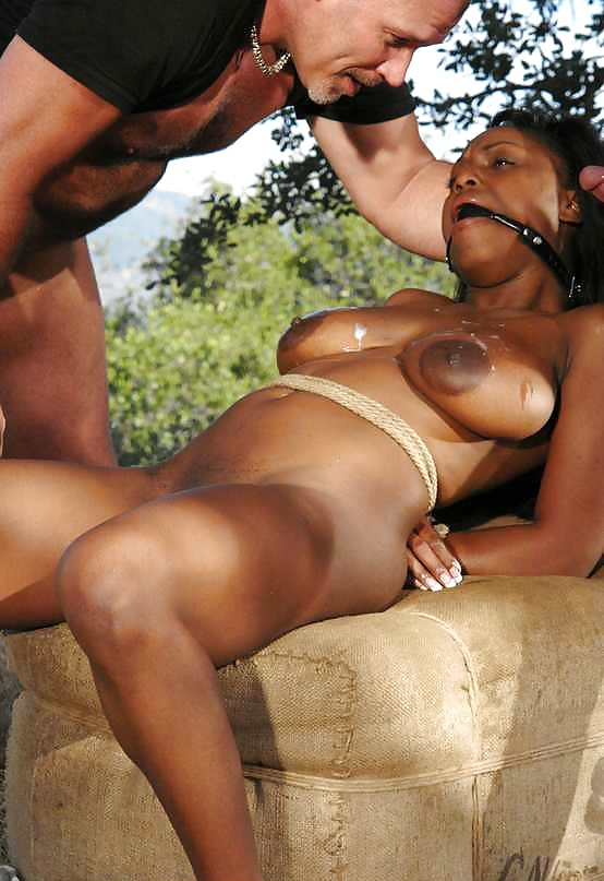 Milf Treats Ebony Slave Girl With Ruthless Strap