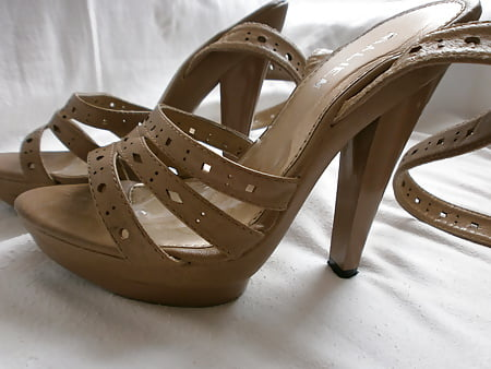 Topless Nude Strappy Platforms Photos