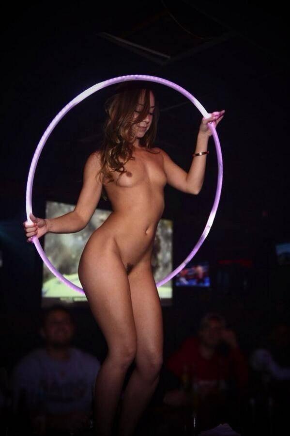 Bed nude naked hula