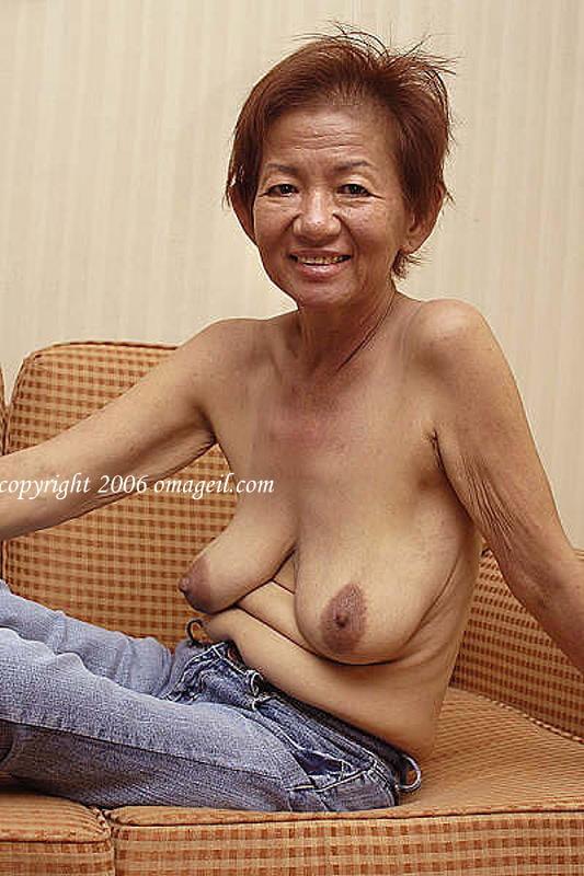 Asian granny posing nude — pic 3