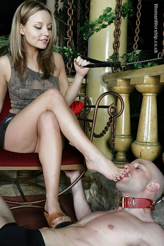 Very hot russian girl in female domination scene