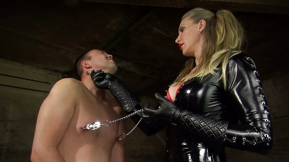 Madame c plays with rubber doll angelicbella's cock
