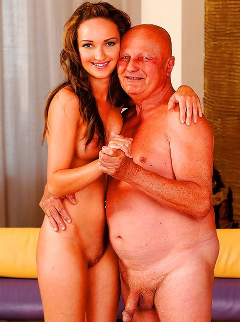 Naked old men with naked young girls 9