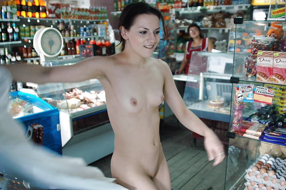Two amateur brunettes posing naked on shopping mall parking russian sexy girls