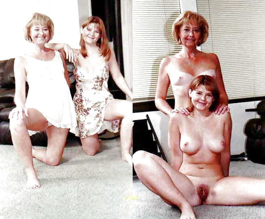 Dressed undressed mother daughter