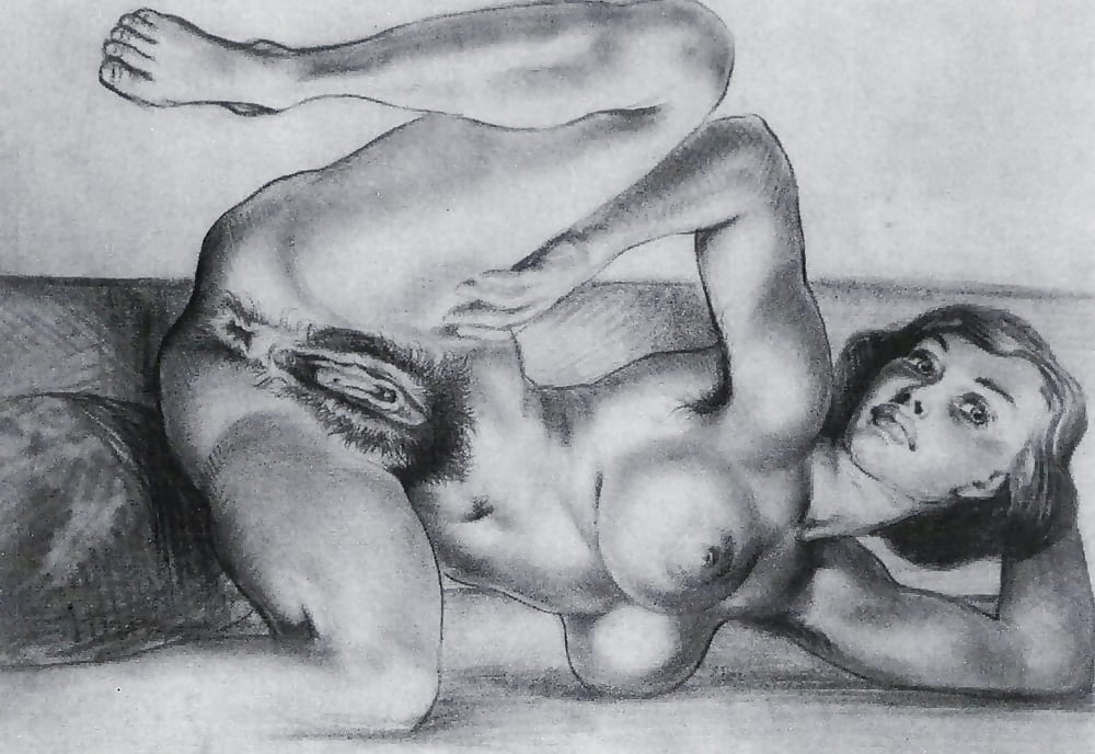 Nude Girls Pussy Pencil Drwaing