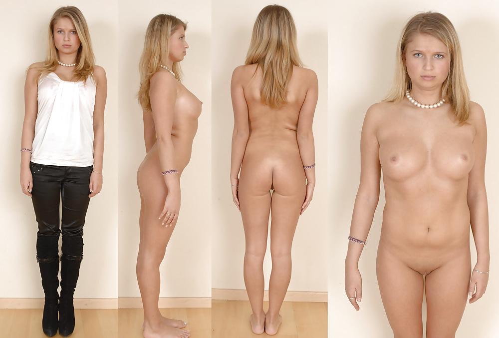 Girl Dressed Undressed Clothed Unclothed