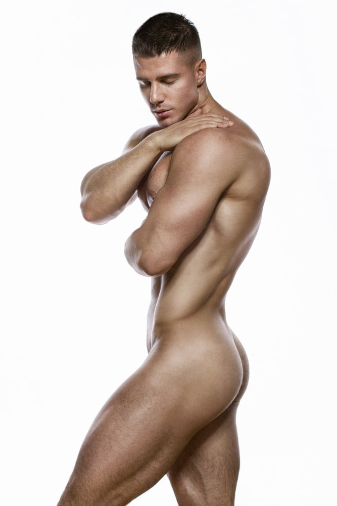 Perfect nude boy with hairless body