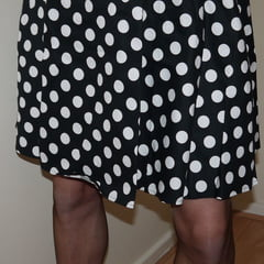 s polka dot dress n matching panties and seames