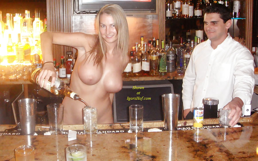 Nude Wife Serves Guests