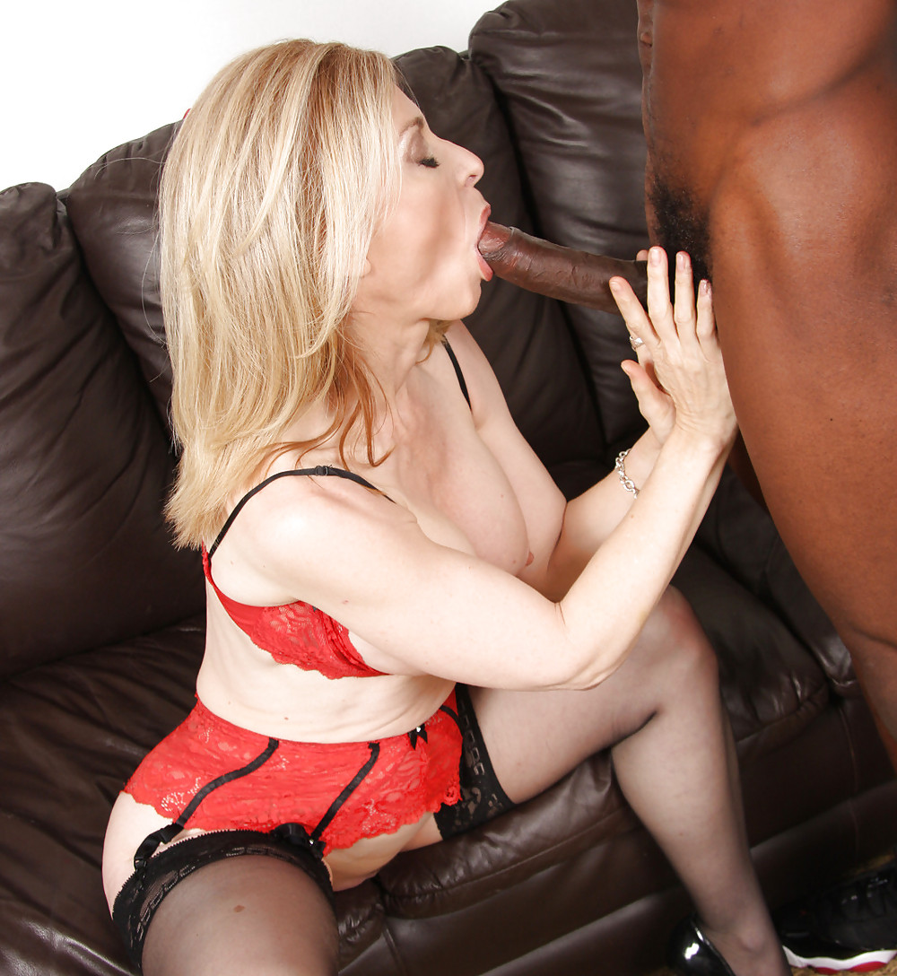 Black cougar blowjob, wife sells pussy for spending cash