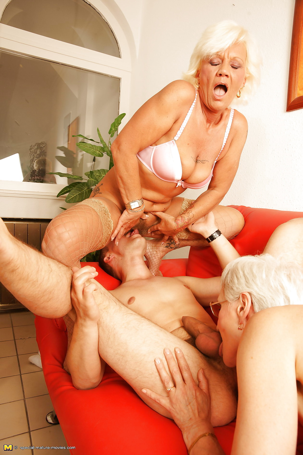 Granny orgy videos, redhead guy and black girl porn