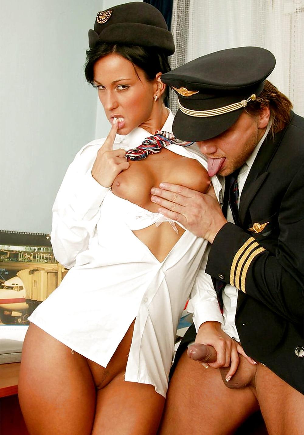 Pilot Fucks A Stewardess Porn Photo
