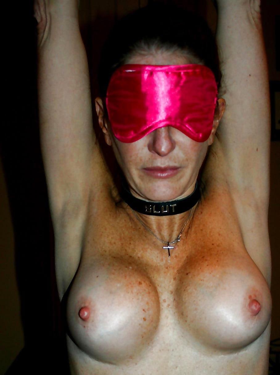 Wife blindfolded tits, black honey porn