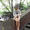 Korean woman flashing in public