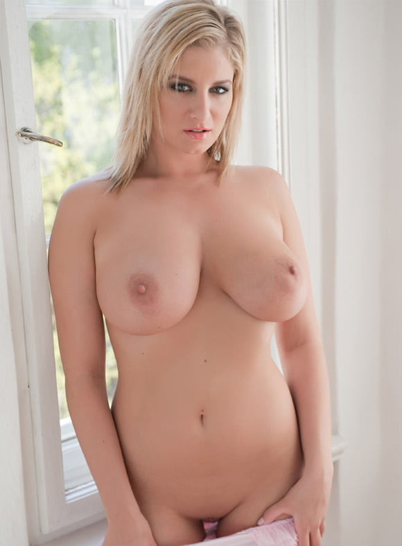 Curvy blonde bailey martin gets naked
