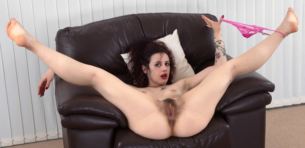 Spread Eagle Wide Open Hairy Fuckamouth 1