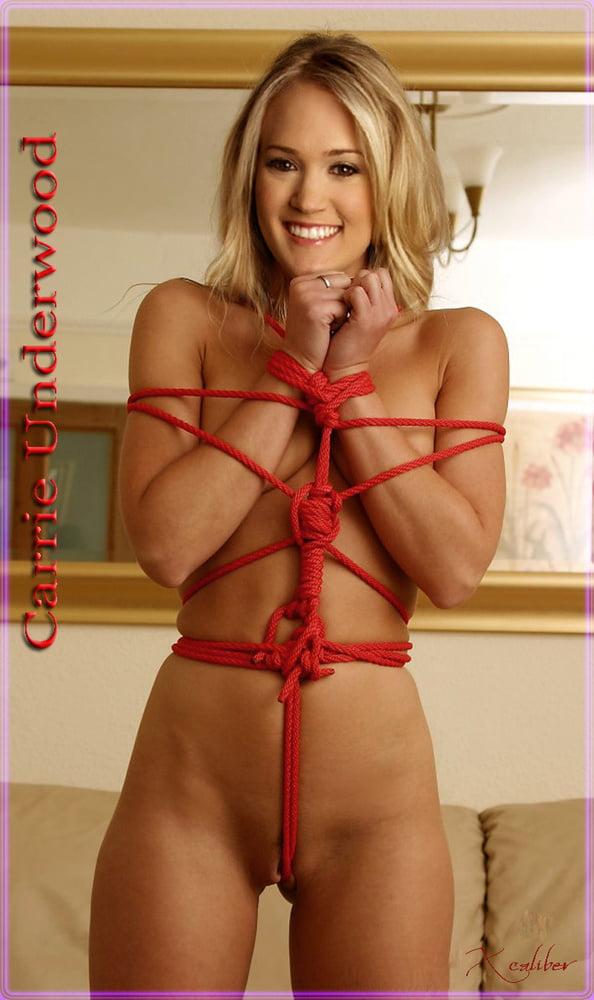 Carrie Underwood Fakes Bondage - 28 Pics