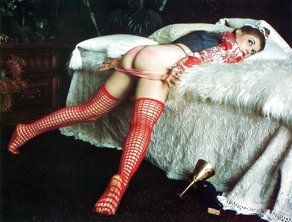 Vintage erotic spanking