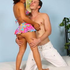 Anal Defloration Sex For PAWG Latina Teen After Beach Fun