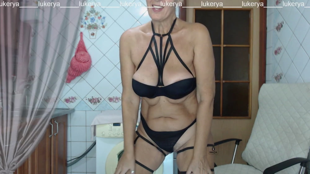 Lukerya in black straps - 95 Pics