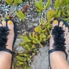 Wife beach feet