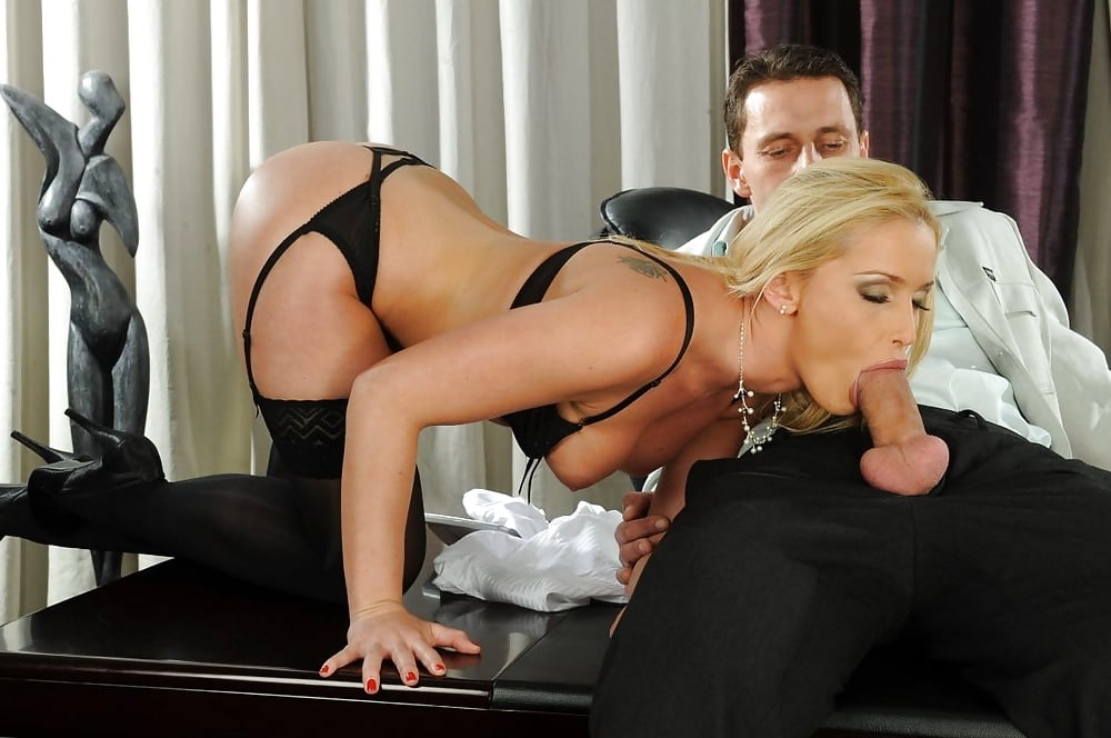 Mesmerizing Blonde Kathia Nobili In Black Lingerie Fucks 1