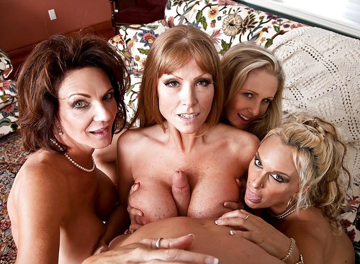 нас, сожалению, порно три зрелые дамы и один парень персонажи предоставленных фото