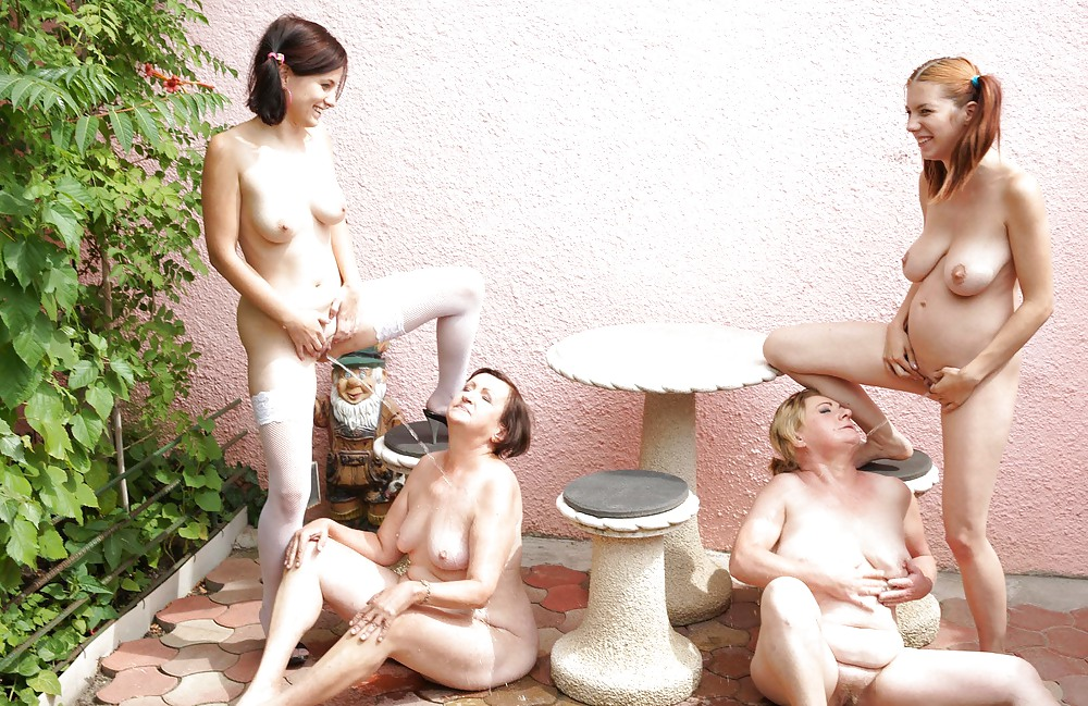 Two Hairy Old And Young Lesbians Have Fun Forth Pee