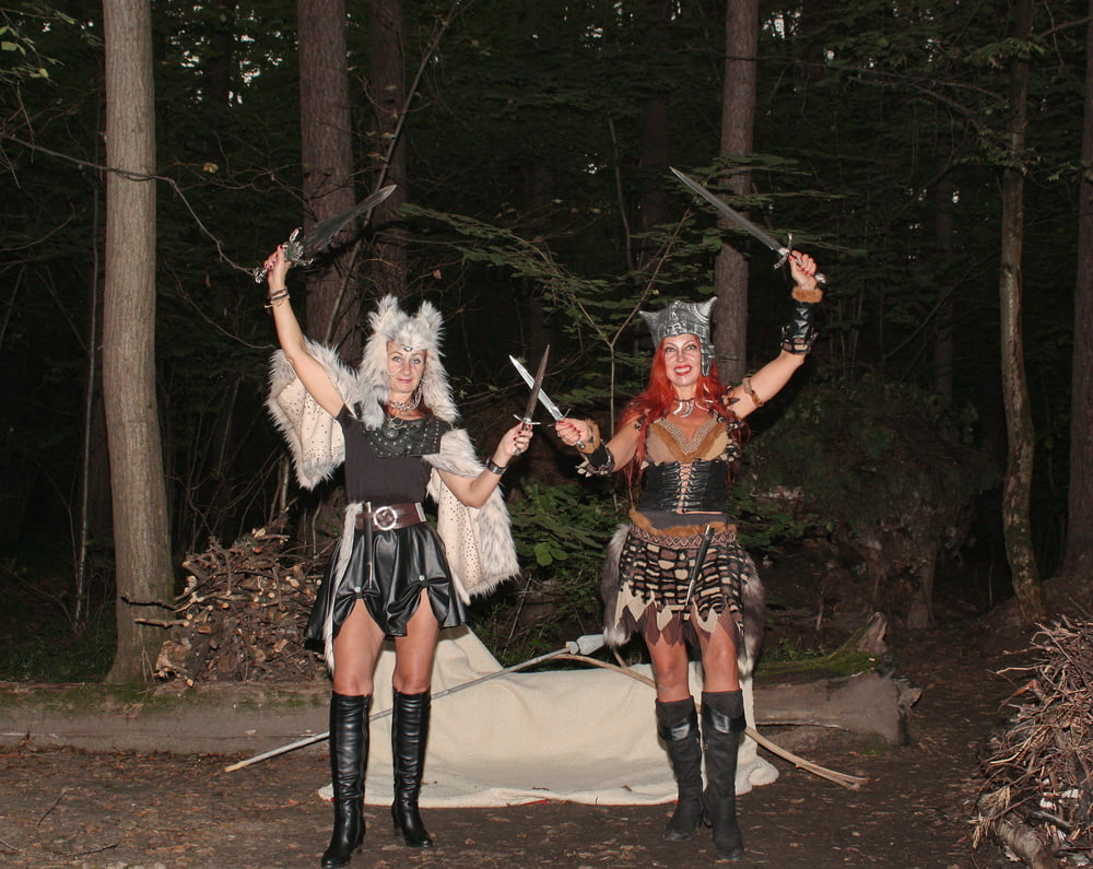 Warrior maidens on the carpet