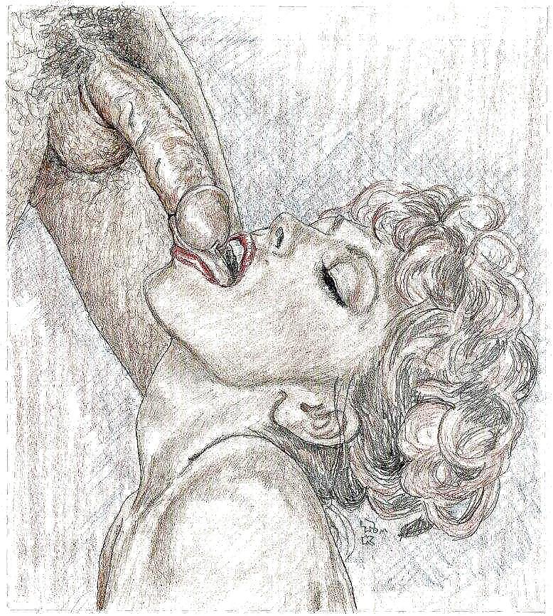 Pornographic Bondage Pencil Art