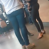 Milfs with nice asses and beautiful feet wearing tight jeans