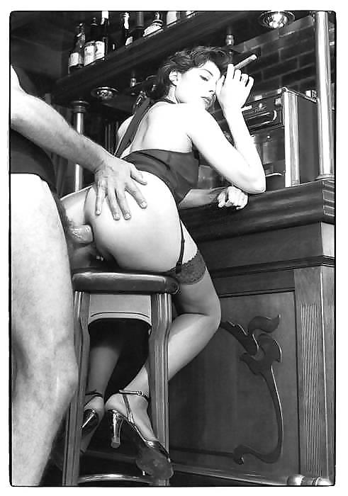 Раритетное черно-белое порно фотографии