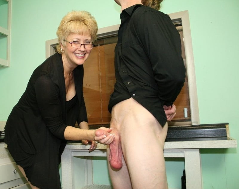 Grandma giving good handjob, giant sex toy porn