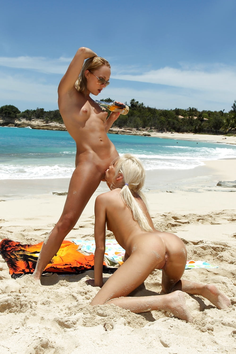 Naked lesbians on the beach 8