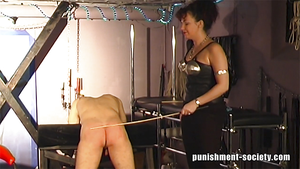 Very hard caning video-1812